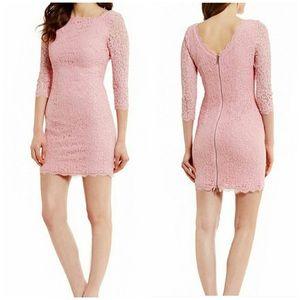 Adrianna Papell Lace Scallop Hem Dress